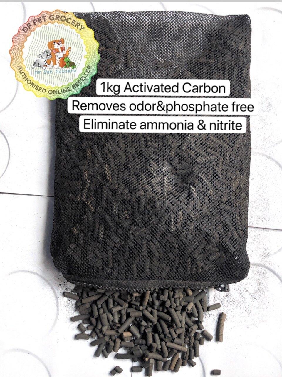 Aquarium Filter Activated Carbon 1kg / Fish Pond Filter Carbon With Net