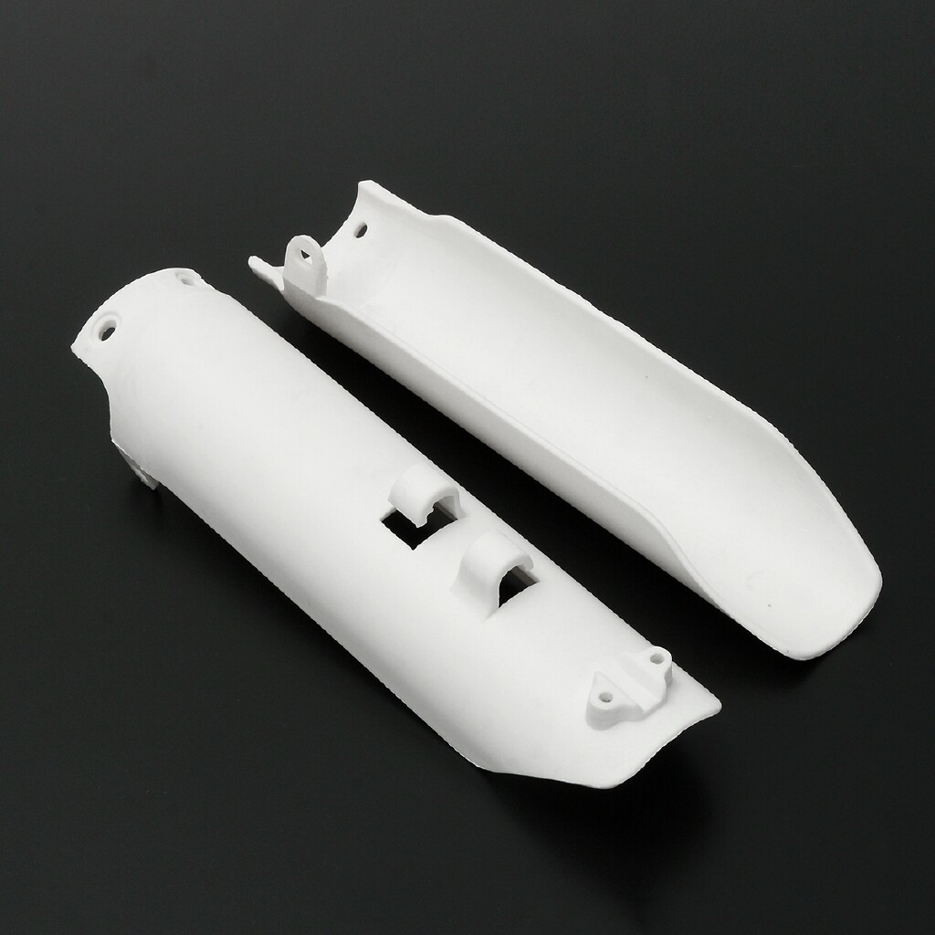 Moto Accessories - 2x White Rount Front Fork Leg Covers Guards Sliders 125cc 144cc Pit Bike PB1155 - Motorcycles, Parts