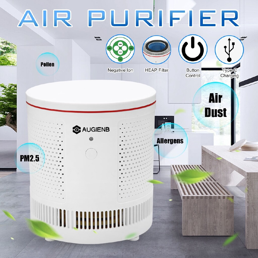 Humidifiers & Air Purifiers - REMOTE HEPA AIR PURIFIER IONISER DESKTOP AIR CLEANER - Cooling Heating