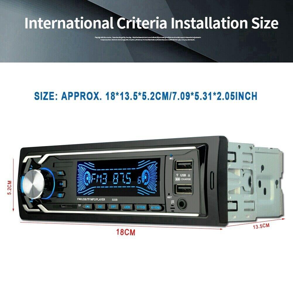 BLUETOOTH In-Dash Auto Radio Aux Input Receiver USB Car FM Radio Mp3 Multimedia Player