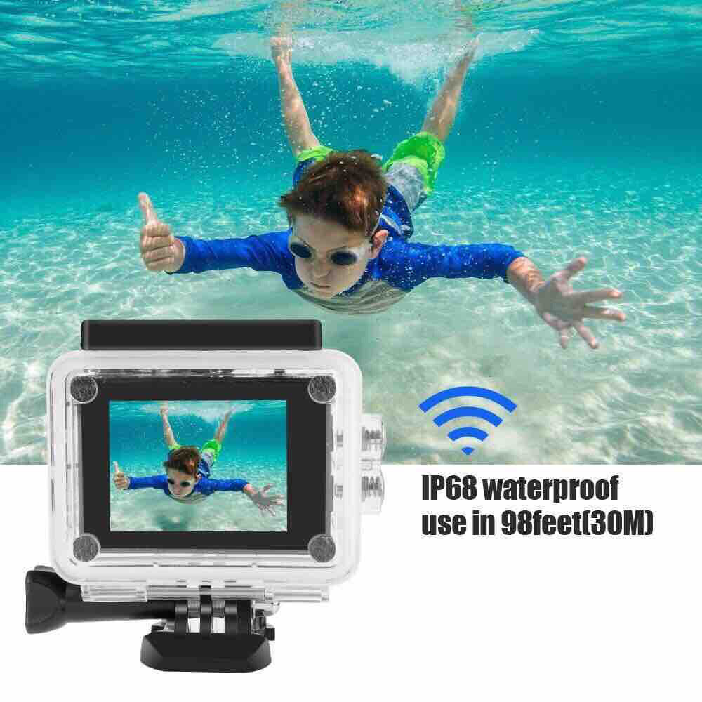 4K Full Hd 1080 Waterproof Hd Action Camera 1080P with 32GB Micro SD Memory (Random Color if No Stock)