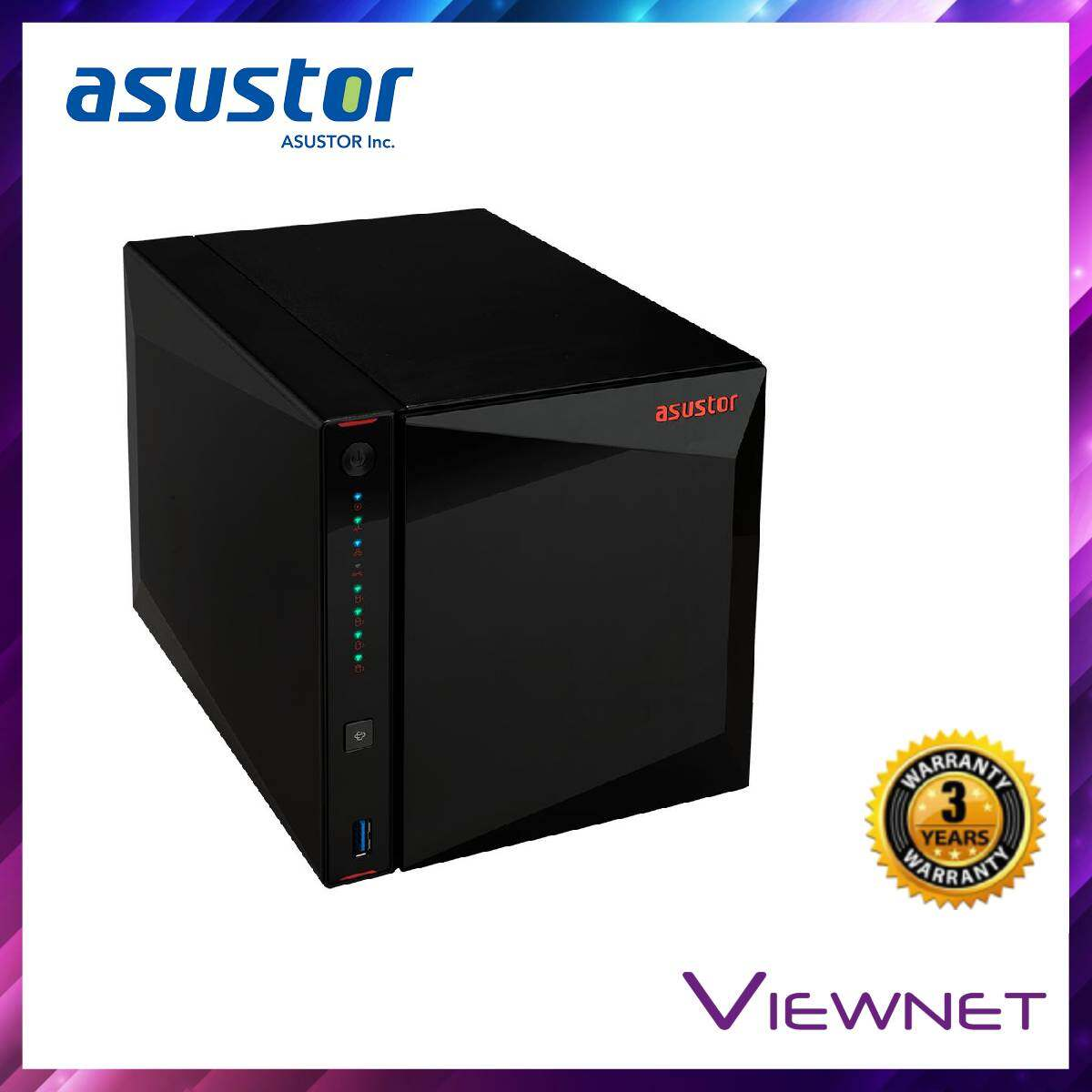 Asustor Enclosure 4-BAYS/INTEL CELERON J4105 QC 1.5GHz/4GB DDR4/2x 2.5GBE LAN/HDMI/EXPANDABLE-16U NAS (AS5304T)