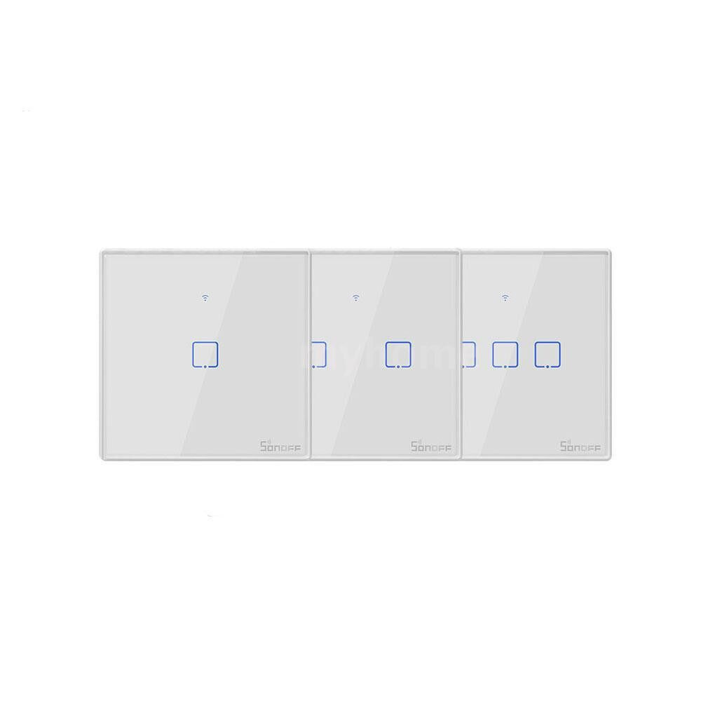 Lighting - T2 Intelligent Switch EU/UK/US AC 100-240V 1/2/3 Gang TX Series WIFI Wall Switch 433Mhz RF - Home & Living
