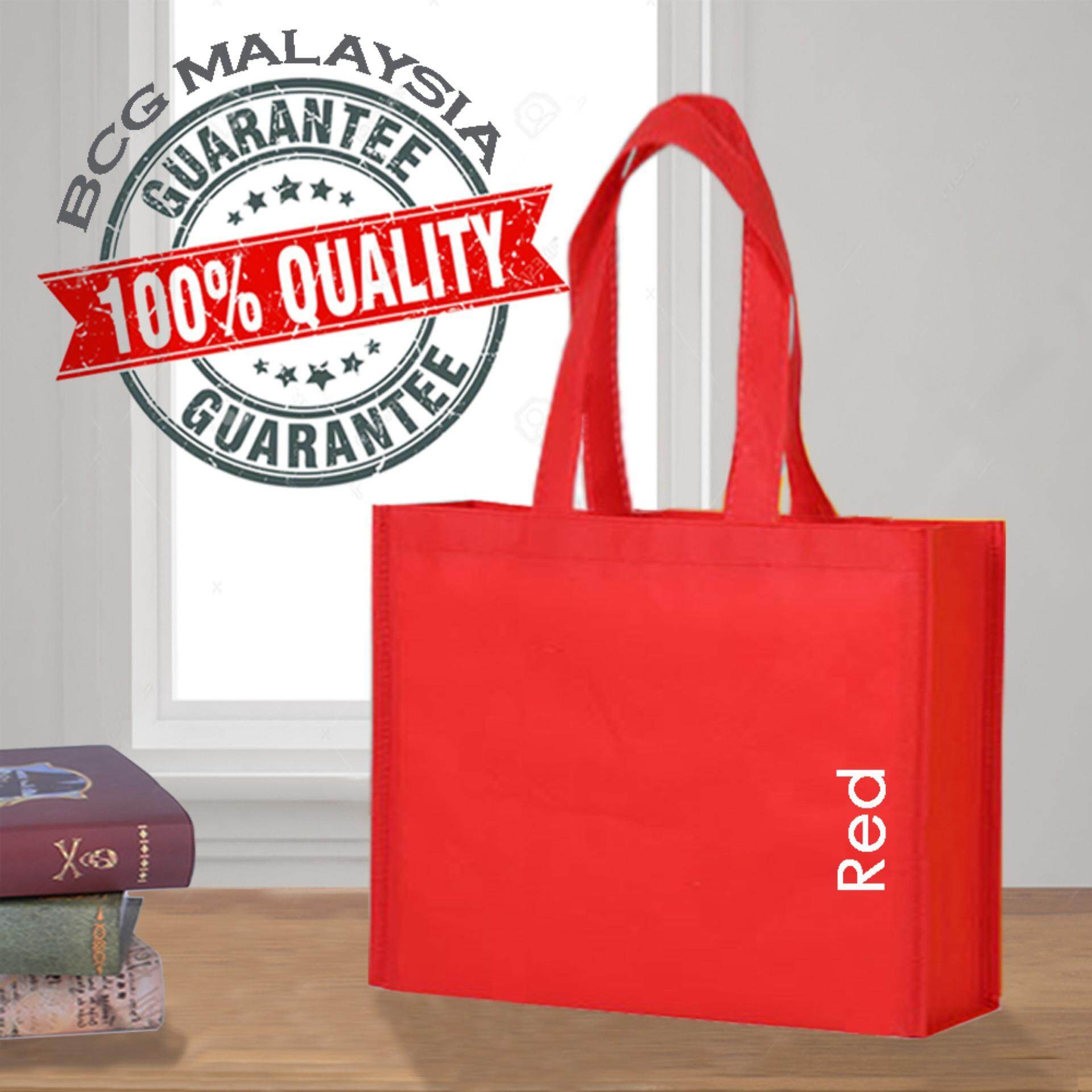 [Ready Stock] BCG Malaysia A3 Red Non Woven Bag Recycle Bag 100% Quality Assured