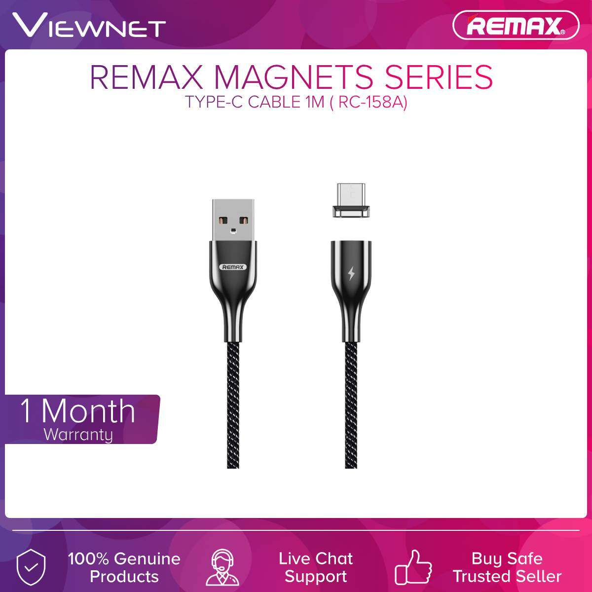 Remax (RC-158A) Type-c Cable Magnet Series