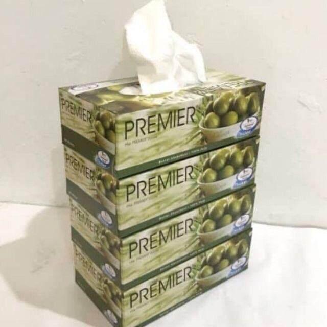 Tissue Premier Box 1ply 90's X 4