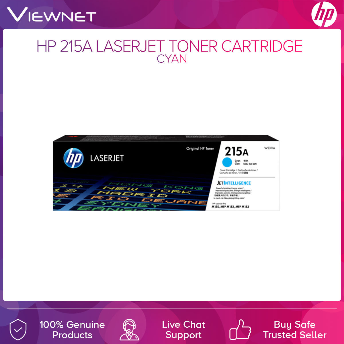 HP 215A Original LaserJet Toner Cartridge Cyan Magenta Yellow Black