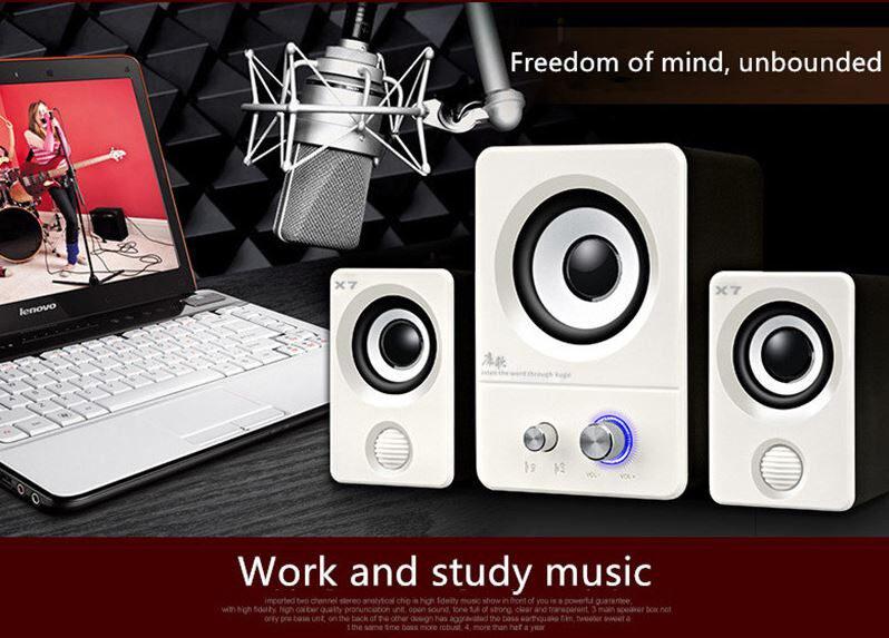 X7 Computer Audio Notebook USB Desktop Speaker Home Phone 2.1 Small Speaker Set