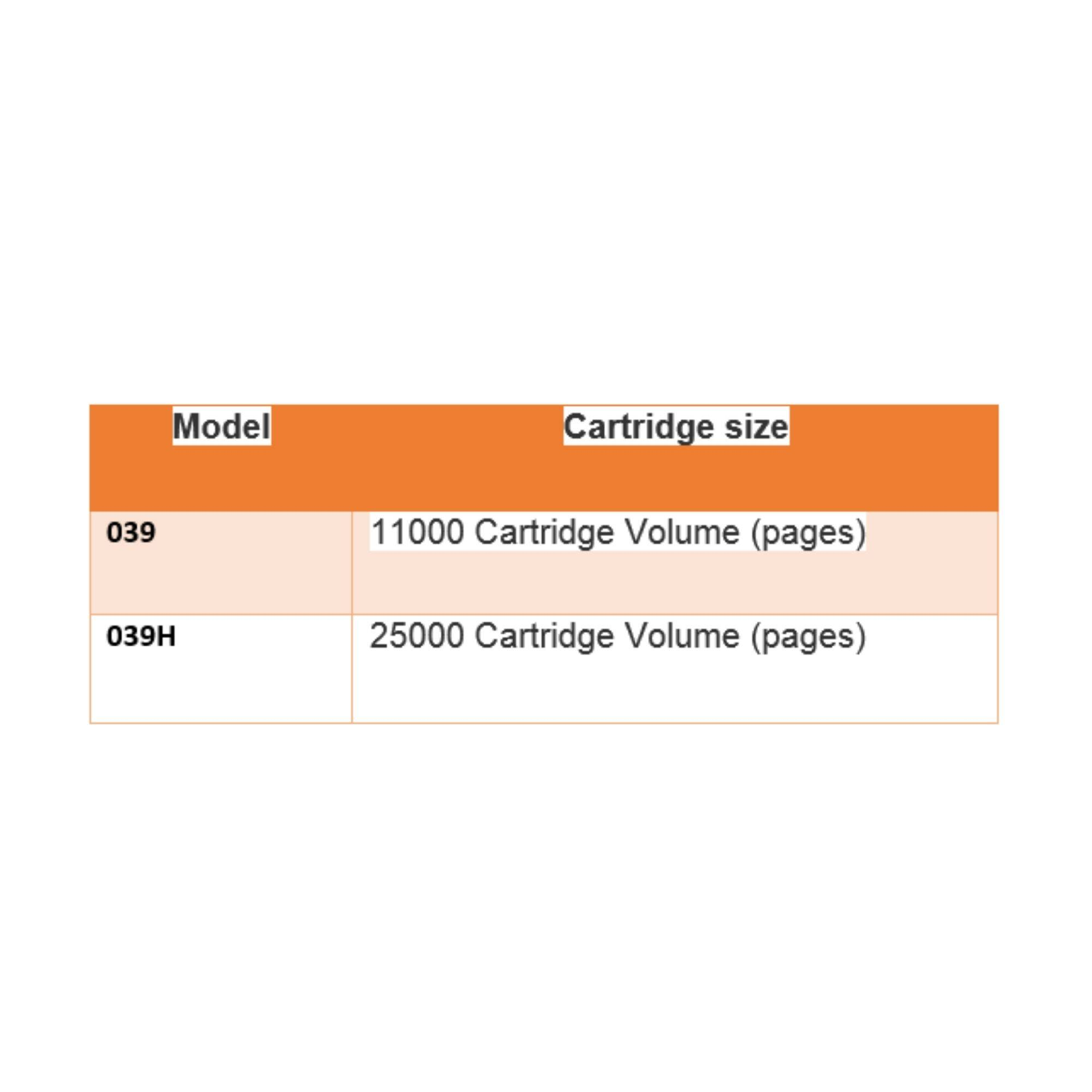 CANON CART 039H TONER for LBP-351x/ LBP352x PRINTER