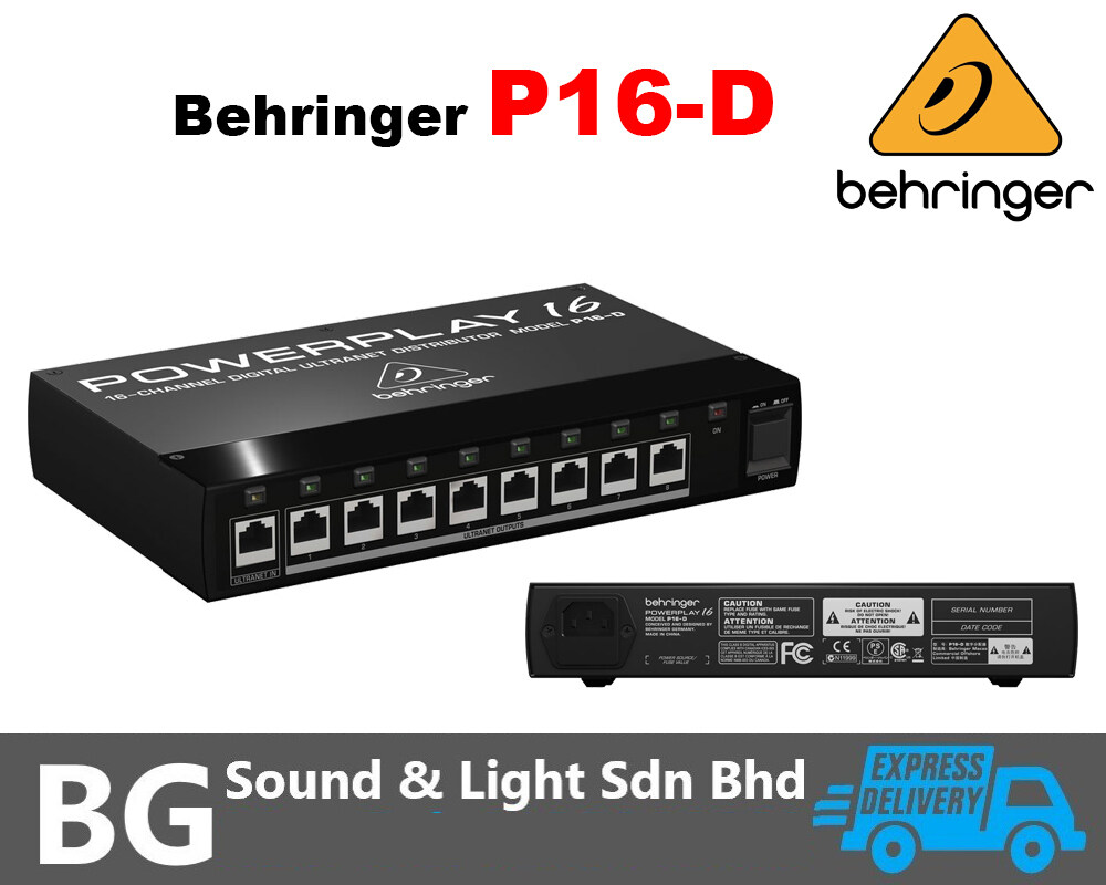 [SHIP OUT EVERYDAY]Behringer P16-D Powerplay 16 Series 16-Channel Digital Ultranet Distributor