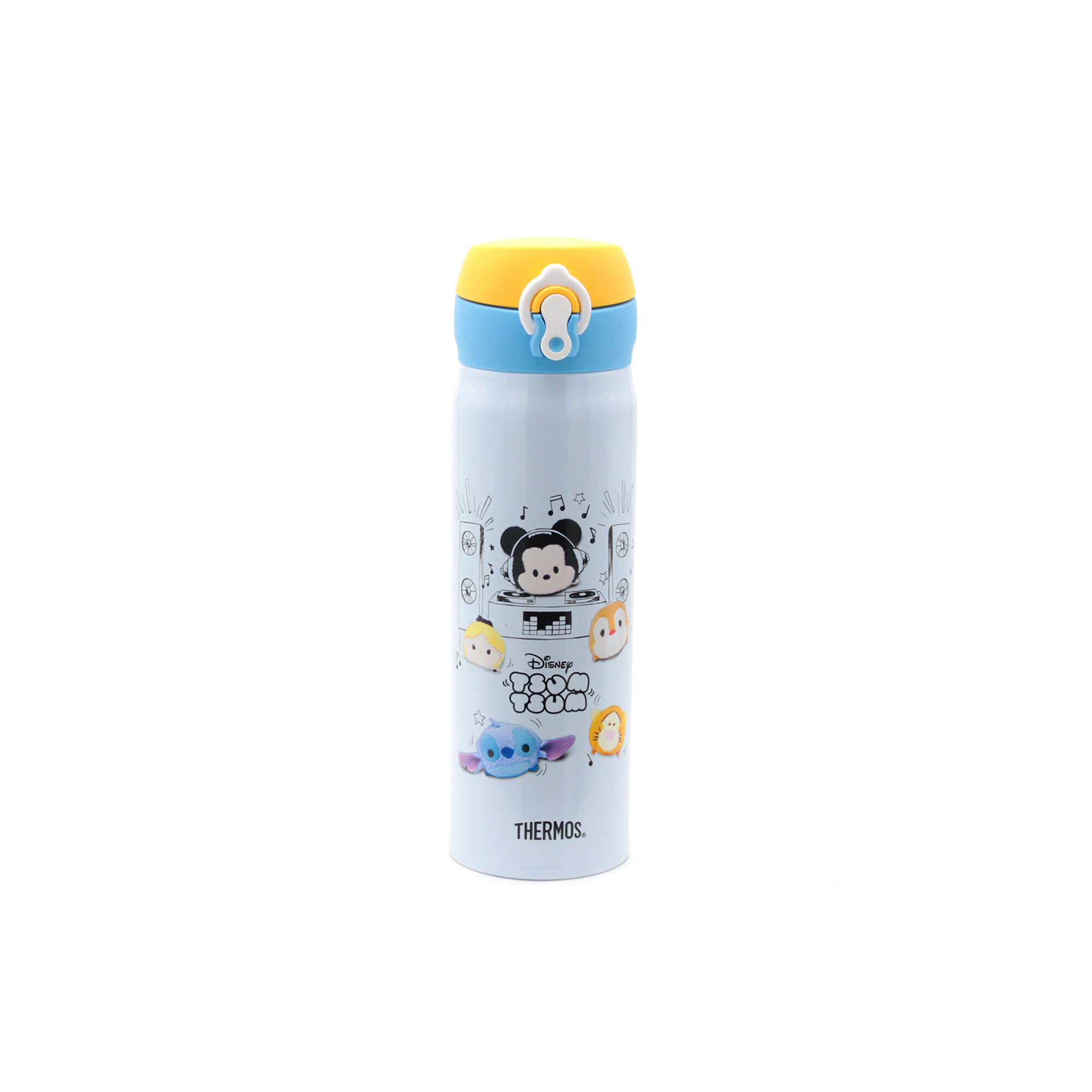 Disney Tsum Tsum 500Ml Thermos Stainless Steel Ultra Light Flask - Blue Mix Yellow Colour