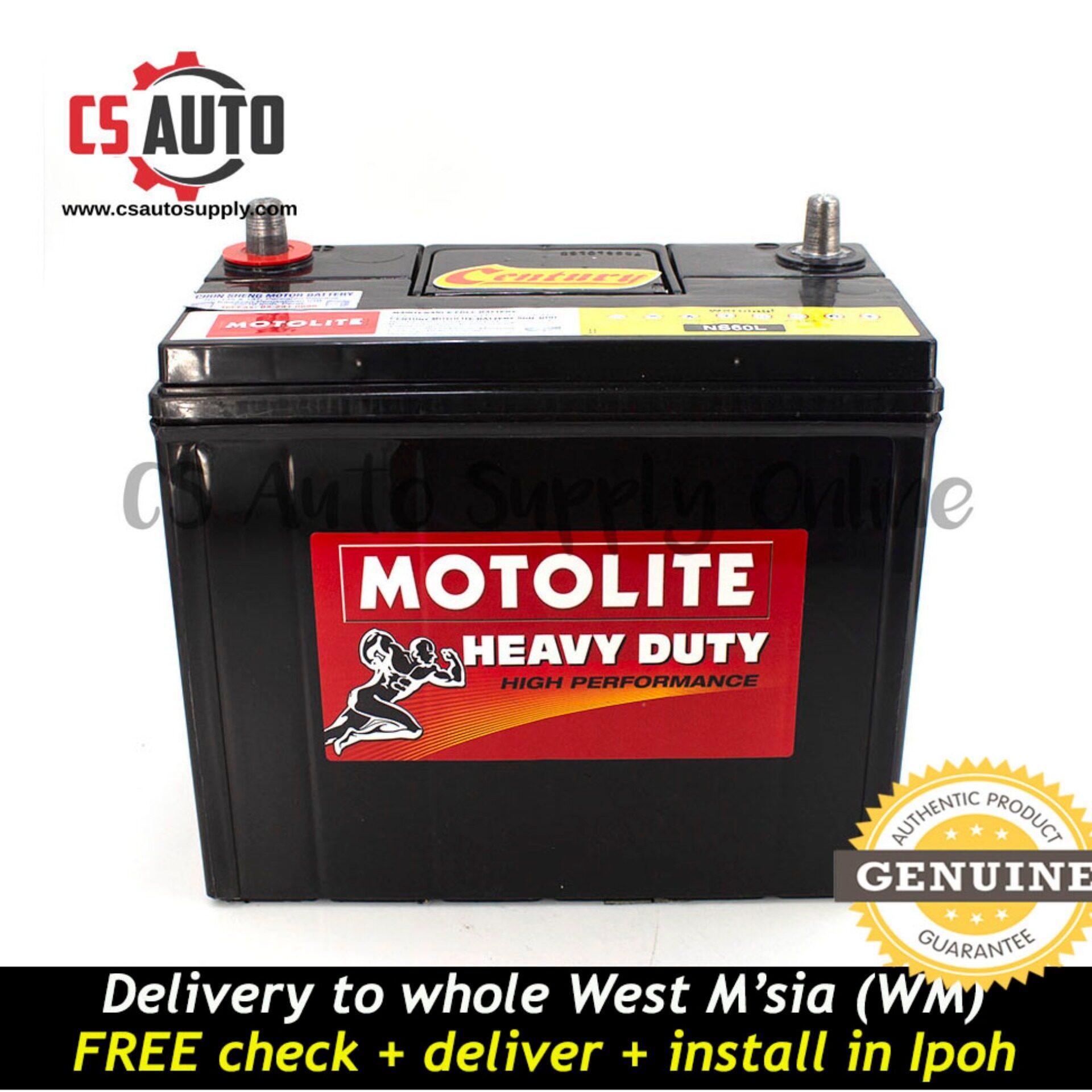 Century NS60L Motolite Small Terminal Battery MF for Toyota Vios, Honda C/H-RV, Civic, Nissan Almera and Grand Livina Ipoh area