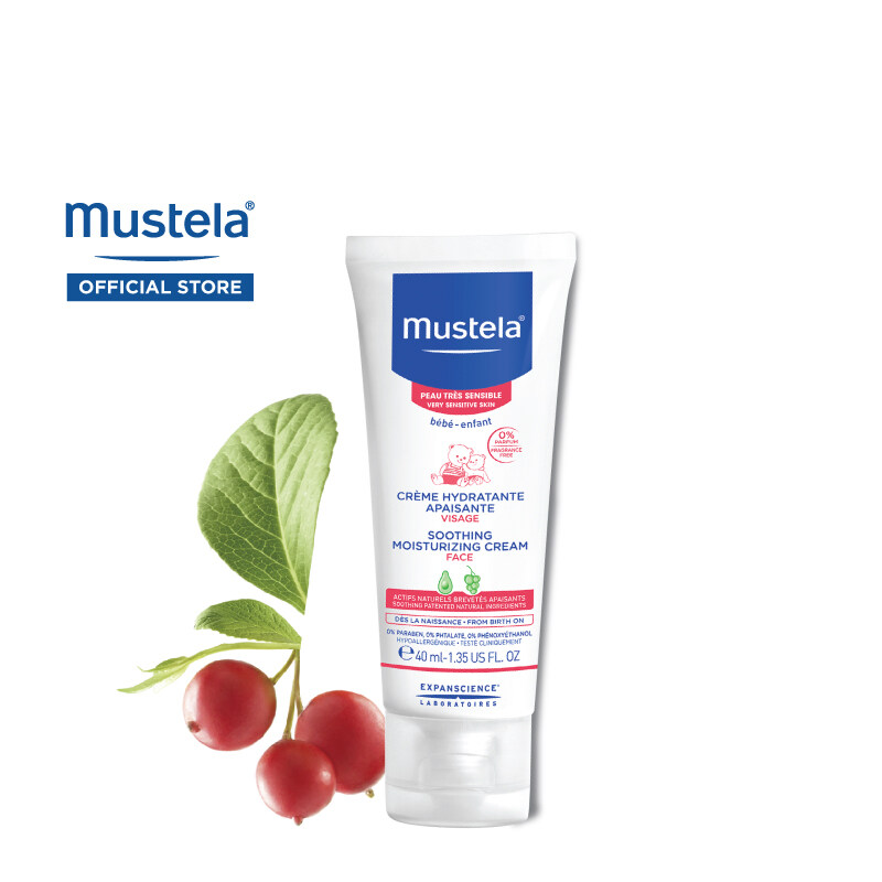 MUSTELA Soothing Moisturizing Cream for Very Sensitive Skin (40ml)