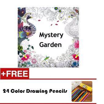 1 Pcs 24 Photos Adults Children Graffiti Book Mystery Garden An Inky Treasure Hunt And Colouring