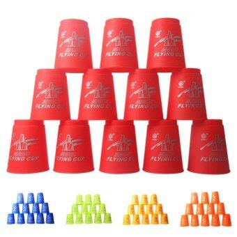 Harga 12pcs Speed Stacks Sport Flying Stacking Rapid Luminous CupsChristmas Gift