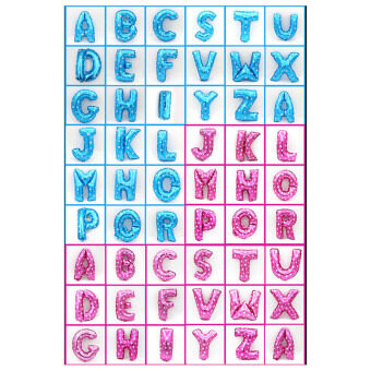 "Harga 16"" Foil Balloons 26 Alphabet Letters A-Z Wedding Birthday PartyDecor Pink M (Intl)"