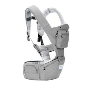 2-36 Months 36KG Breathable Multifunctional Ergonomic Baby Carrier Infant Comfortable Sling Backpack Hipseat Wrap Baby Kangaroo (Grey)