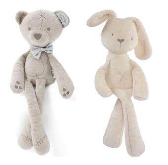 Harga 2-Pack Soft Plush Snuggle toy Doll Snuggle Bunny & Bear,Stuffed Animal toy Doll Girls Boys Sleeping Comfort Toys Millie& Boris Smooth Obedient Calm Doll