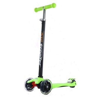 Harga 21st Scooter Height Adjustable Flash Wheels Scooter Green