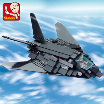 Air Force F117/209pcs forces airplane small Luban building blocks