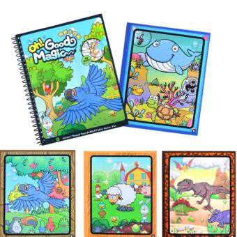 Kids Children Educational English Learning Book Animal Water Coloring With Pen For