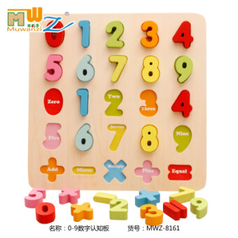 Baby digital letters early childhood puzzle force pairing puzzle board