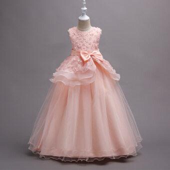 Baby Girls Sleeveless Princess Dress Kids Wedding Party Kid Birthday Girl Evening