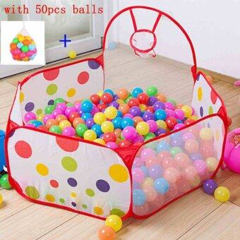 Baby Kids Collapsible Ocean Ball Pool Tent with 50pcs Colorful Balls