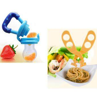 Baby Pacifier Fresh Food Storage Feeder+Food Scissors