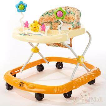 Harga Baby Walker With Music Ride-on Toy with Music and Bricks ChildrenActivity Foldable Adjustable Car (Orange)