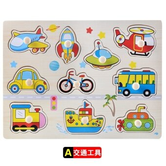 Baby wooden early childhood puzzle force hand scratch Board