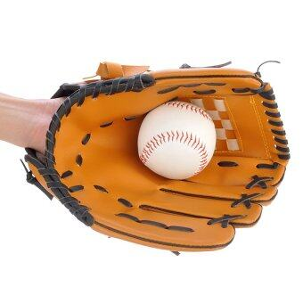 Harga Baseball Training Practice Gloves Left Hand PVC Artificial LeatherUnisex Pitcher Softball Baseball Glove 12.5""