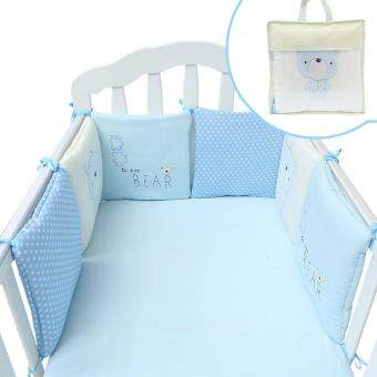 Bellamall:Comfortable Baby Bedding Supplies 6pcs/set Comfortable Cute Baby Crib Cotton Bumper Bed