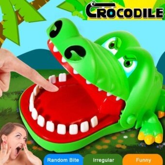 Harga Big Crocodile Mouth Dentist Bite Finger Game Toy Family Game ForKids Xmas Gift