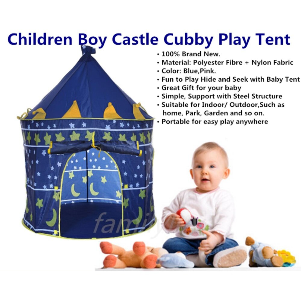 Children Boy Castle Cubby Play Tent Princess Castle Cubby Play hut toys for girls