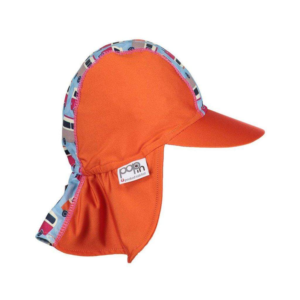 [CLOSE PARENT] Pop-in Peaked Sun Hat - Campervan Blue (sized S - 0 to 6 mths) *best buy