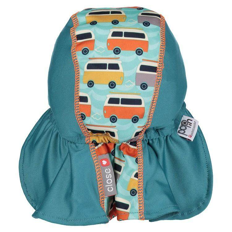 [CLOSE PARENT] Pop-in Peaked Sun Hat - Campervan Green (sized L -12 to 24 mths) *best buy
