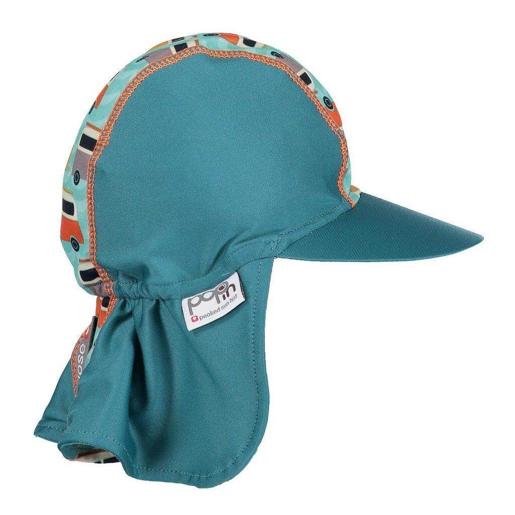 [CLOSE PARENT] Pop-in Peaked Sun Hat - Campervan Green (sized M - 6 to 12 mths) *best buy