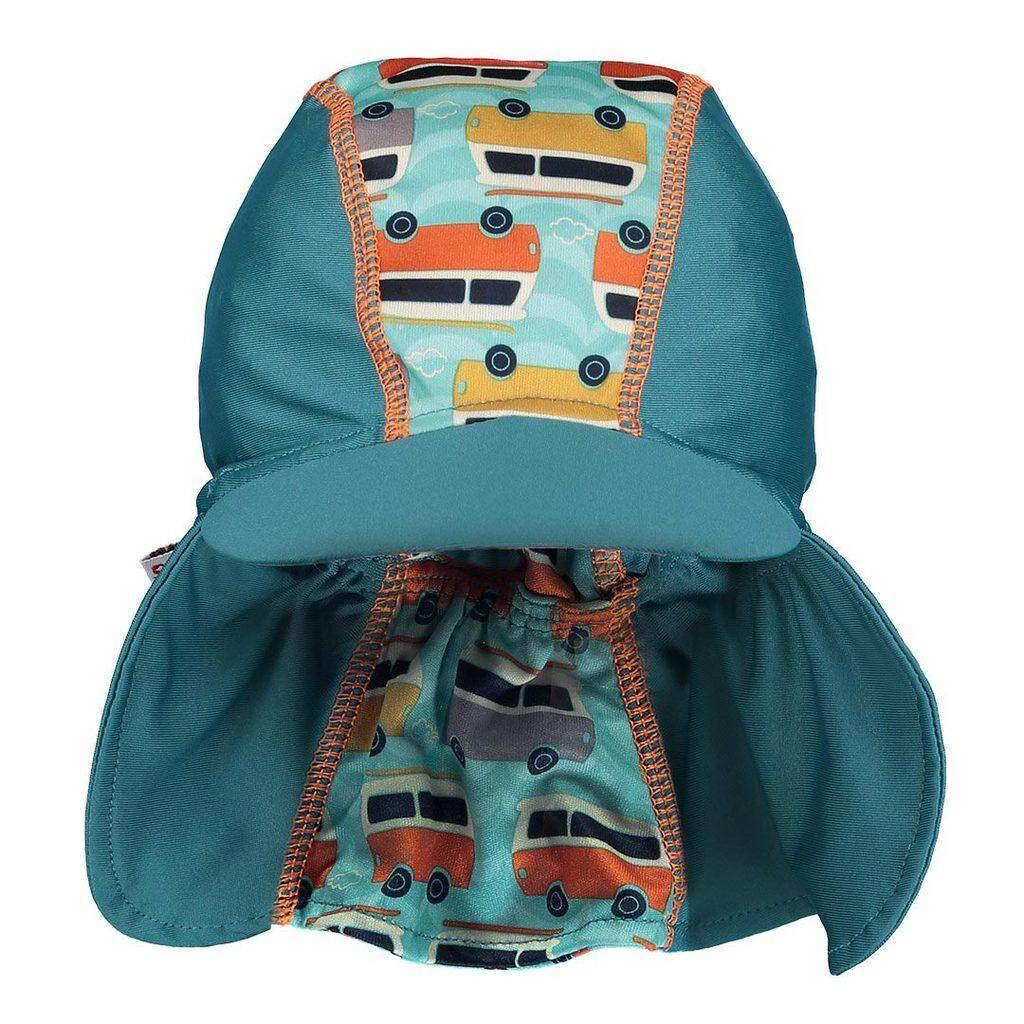[CLOSE PARENT] Pop-in Peaked Sun Hat - Campervan Green (sized S - 0 to 6 mths) *best buy