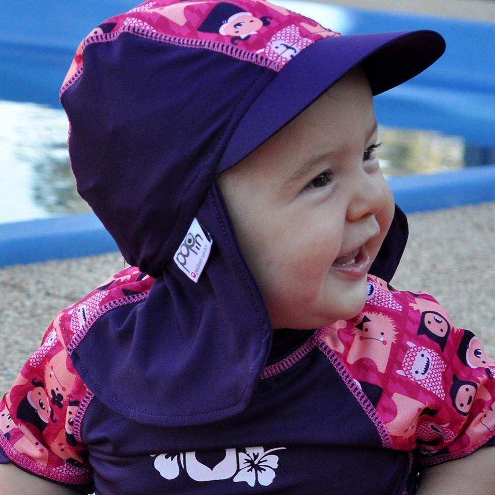 [CLOSE PARENT] Pop-in Peaked Sun Hat - Monster Edie (sized XL - 2 to 3 yrs) *best buy
