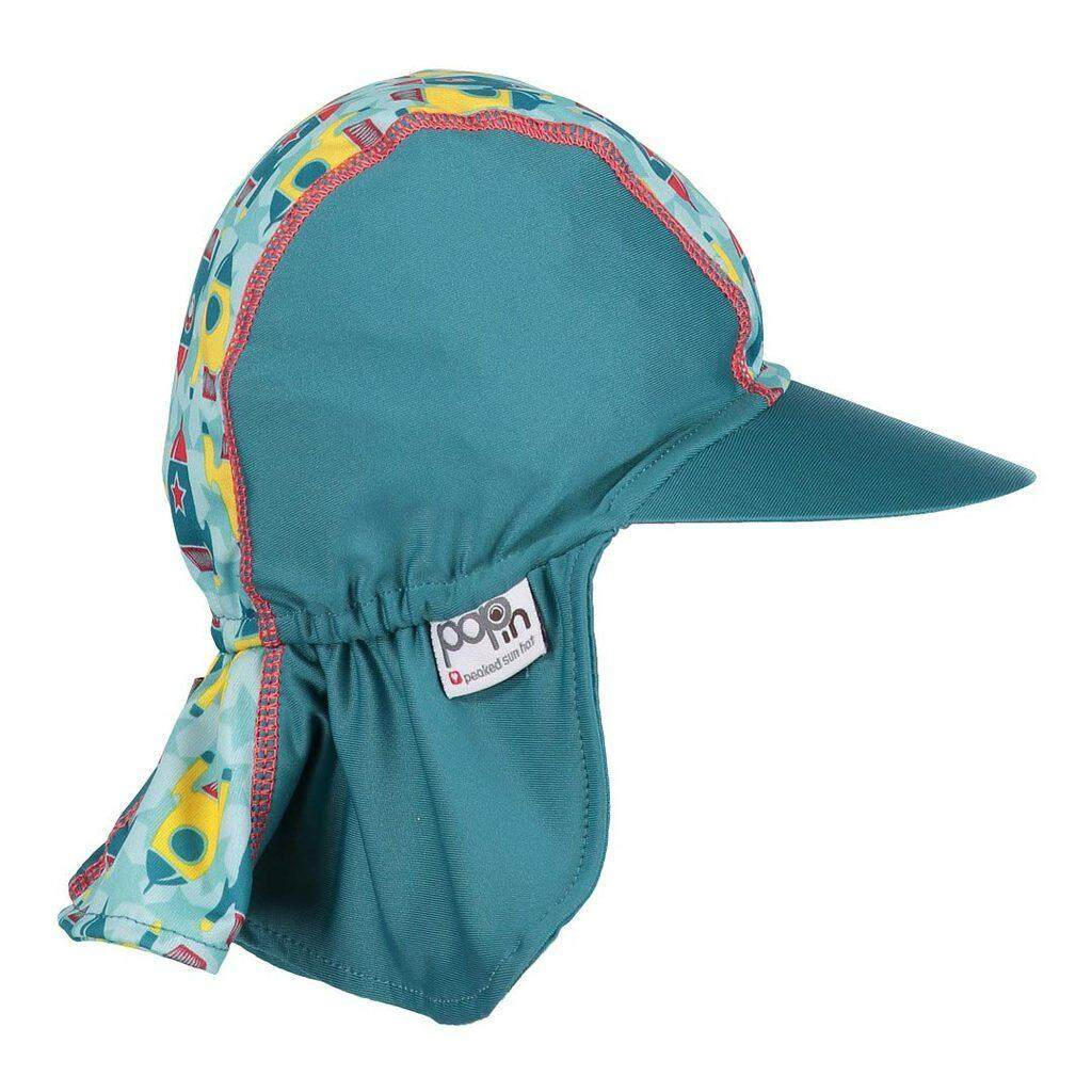 [CLOSE PARENT] Pop-in Peaked Sun Hat - Rocket (sized S - 0 to 6 mths) *best buy
