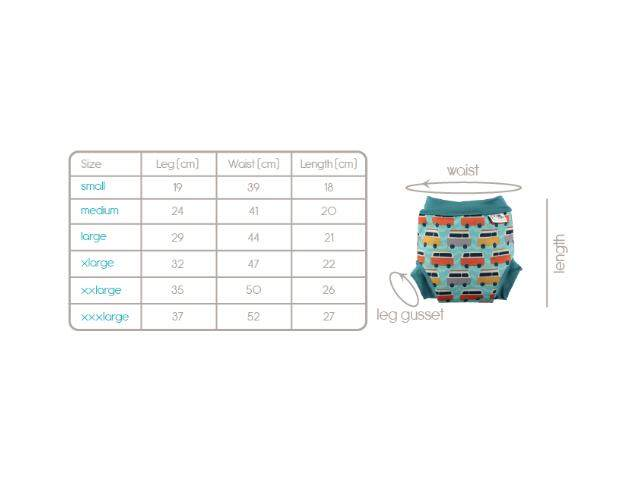 [CLOSE PARENT] Pop-in Swim Nappy Campervan Blue (M sized - from 4 months 6kg)
