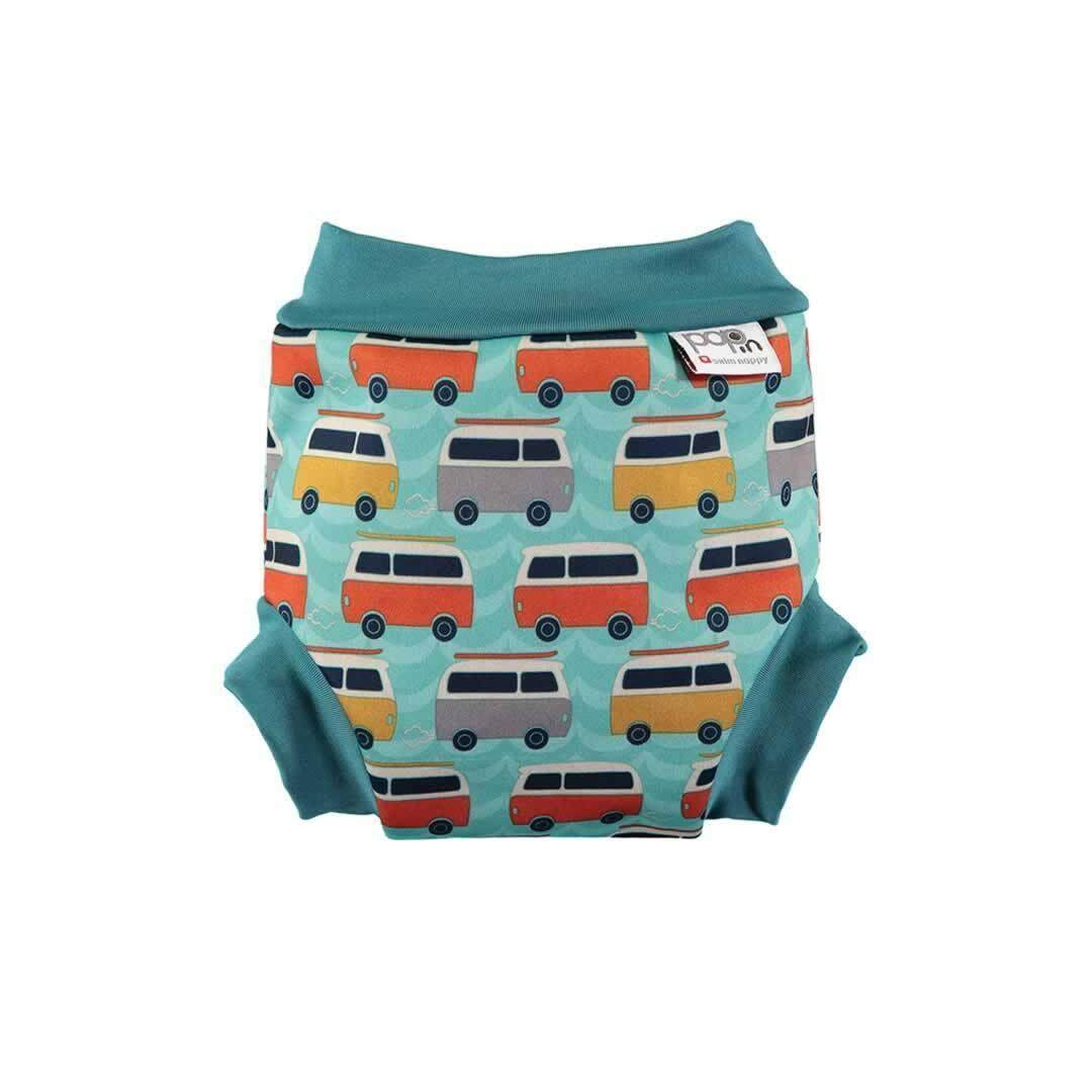 [CLOSE PARENT] Pop-in Swim Nappy Campervan Green (XL sized - from 16 months 13kg)