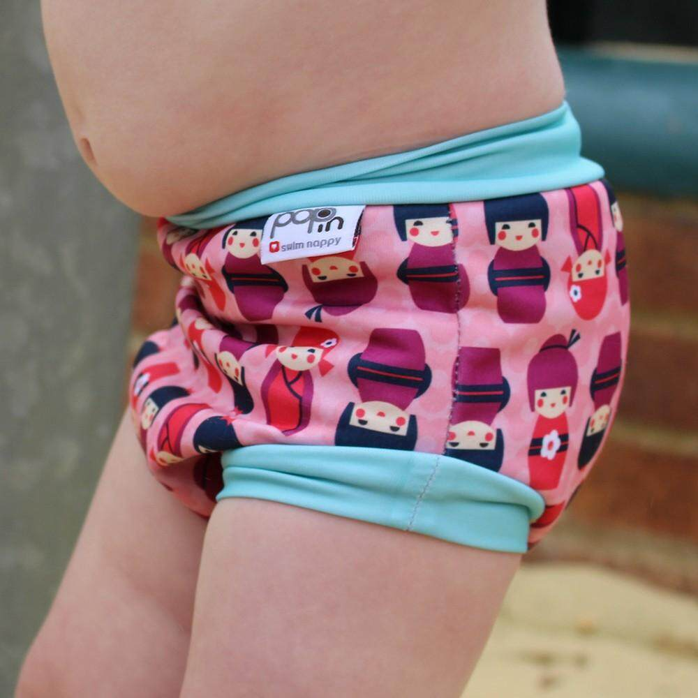 [CLOSE PARENT] Pop-in Swim Nappy Kokeshi Doll (M sized - from 4 months 6kg)