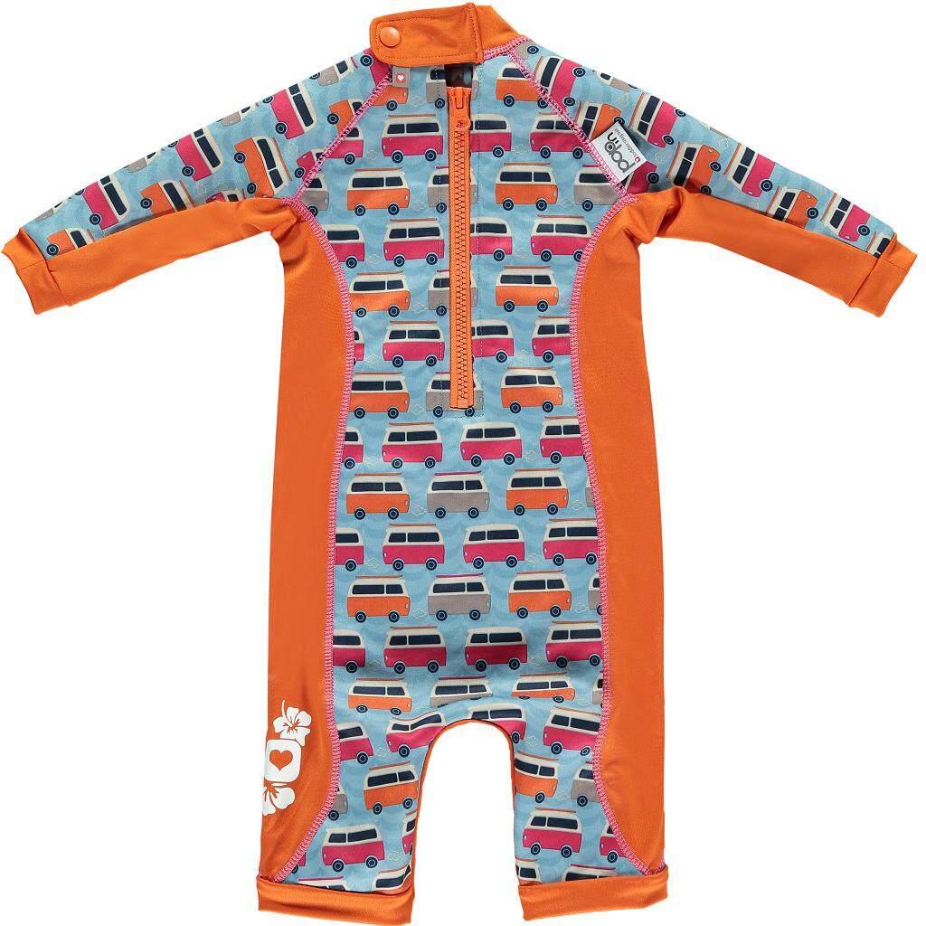 [CLOSE PARENT] Pop-in Toddler Snug Suit - Campervan Blue (sized L - for 18 - 24 months) *best buy