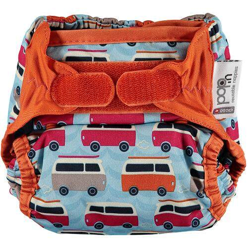 [CLOSE PARENT] Simple Nappy Bamboo - Campervan Blue (Up to 16 kg)