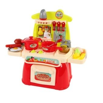 Cook Happy Kitchen PlaySet (Red)