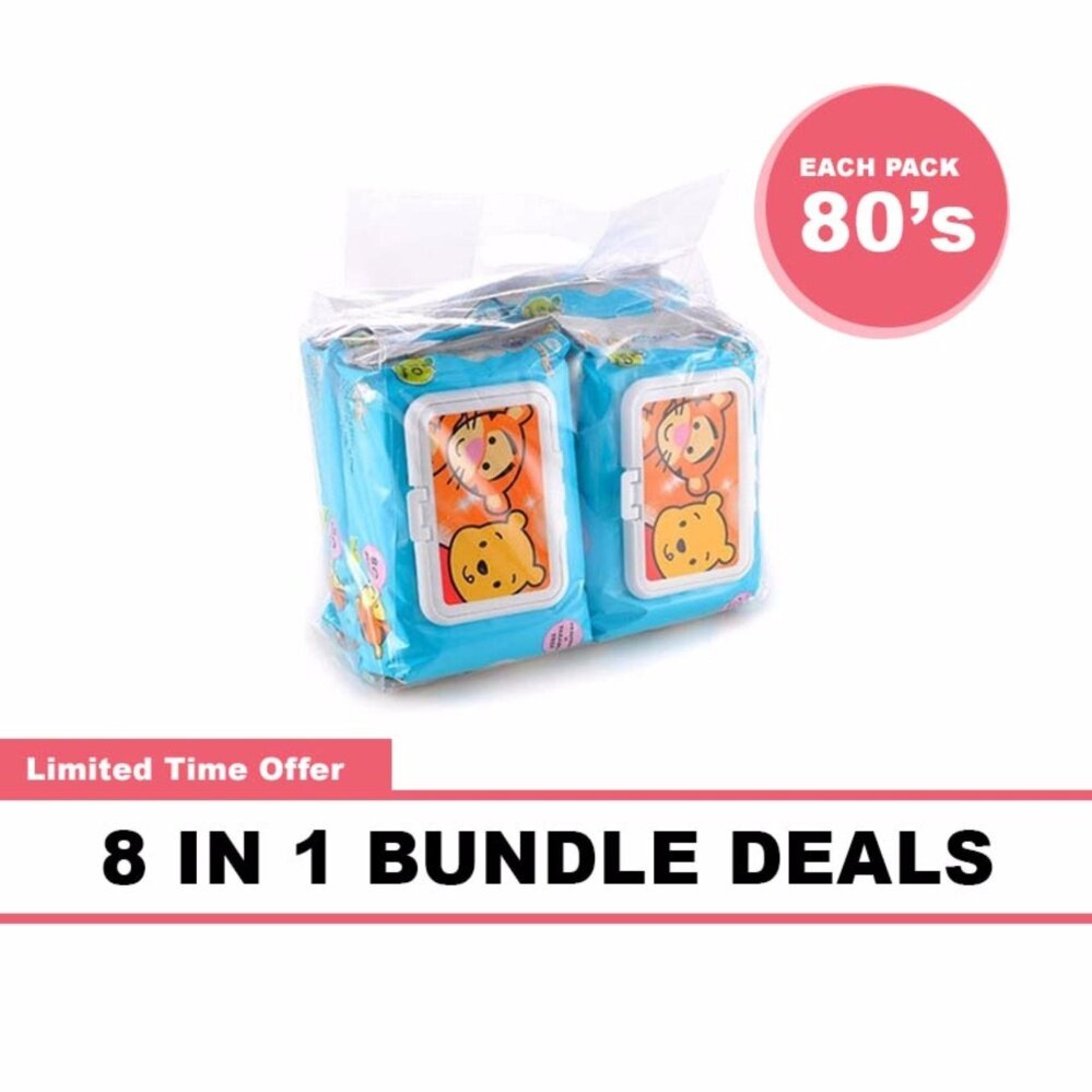 Disney Cuties Baby Wet Wipes 8 x 80\'s Bundle Deals