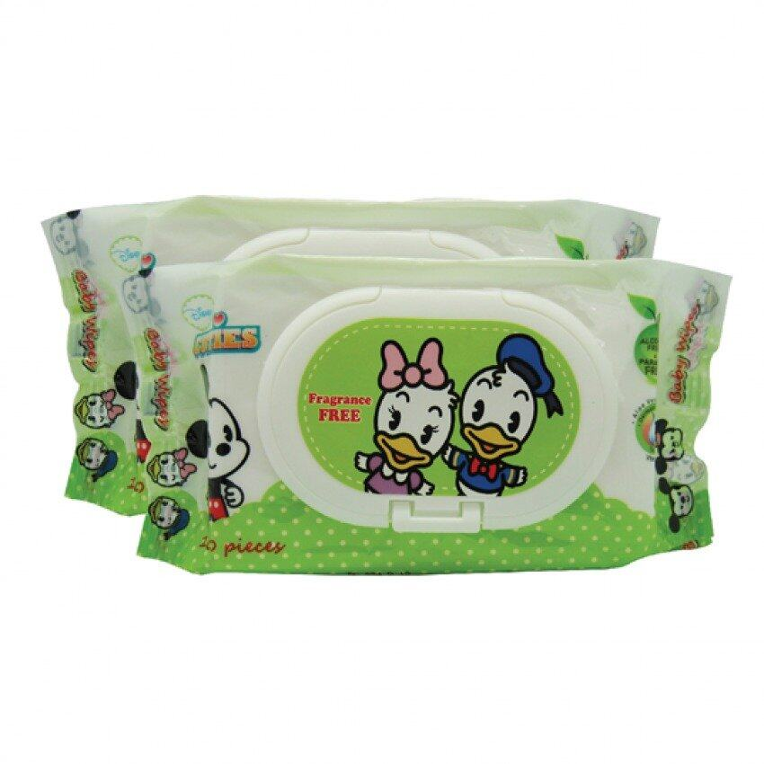 Disney Cuties Fragrance Free Wet Wipes 2 In 1 Set 100PCS x 2 - Donald And Daisy