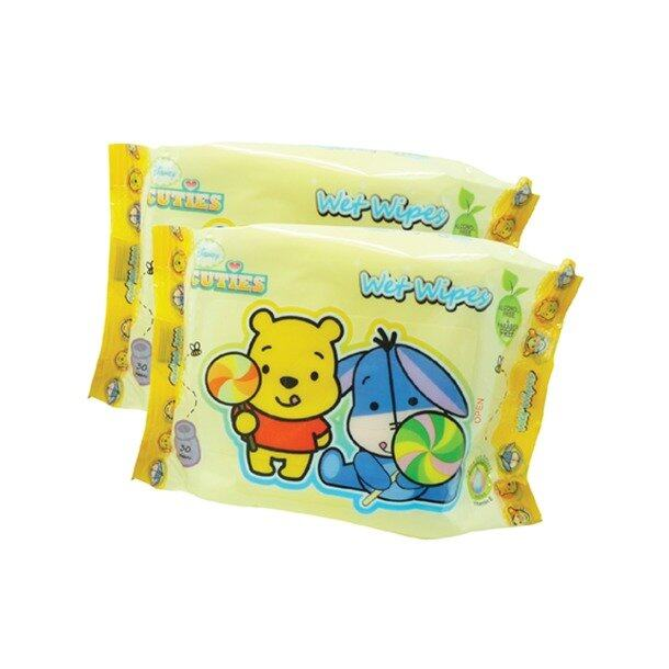 Disney Cuties Wet Wipes Set 2 In 1 Value Set 30PCS x 2 - Eeyore & Pooh